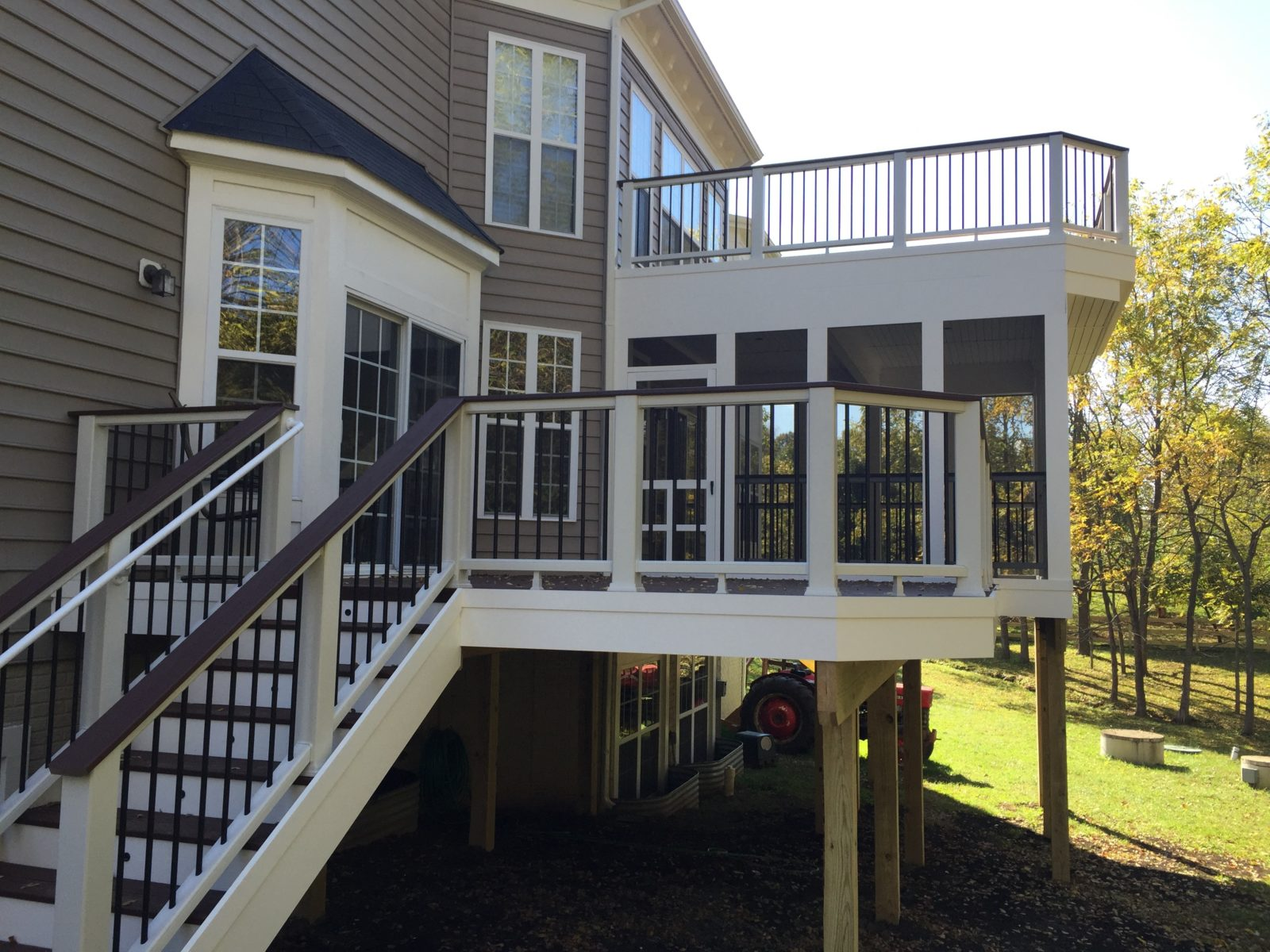 Double Deck with Screened in Porch