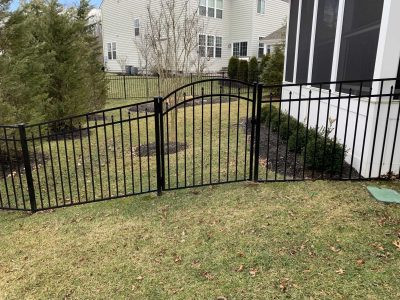 Aluminum Fence, Modified Gate